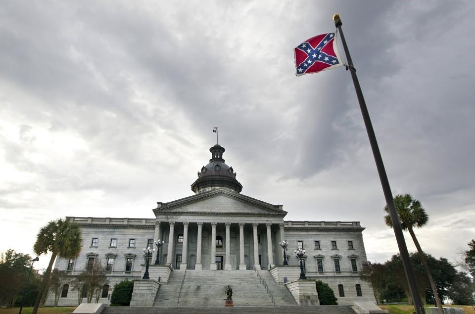 Rebel flag over state house