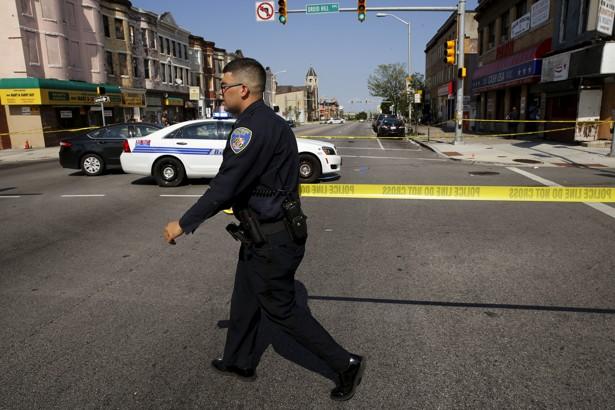 Teen holding replica gun shot by Baltimore police officer