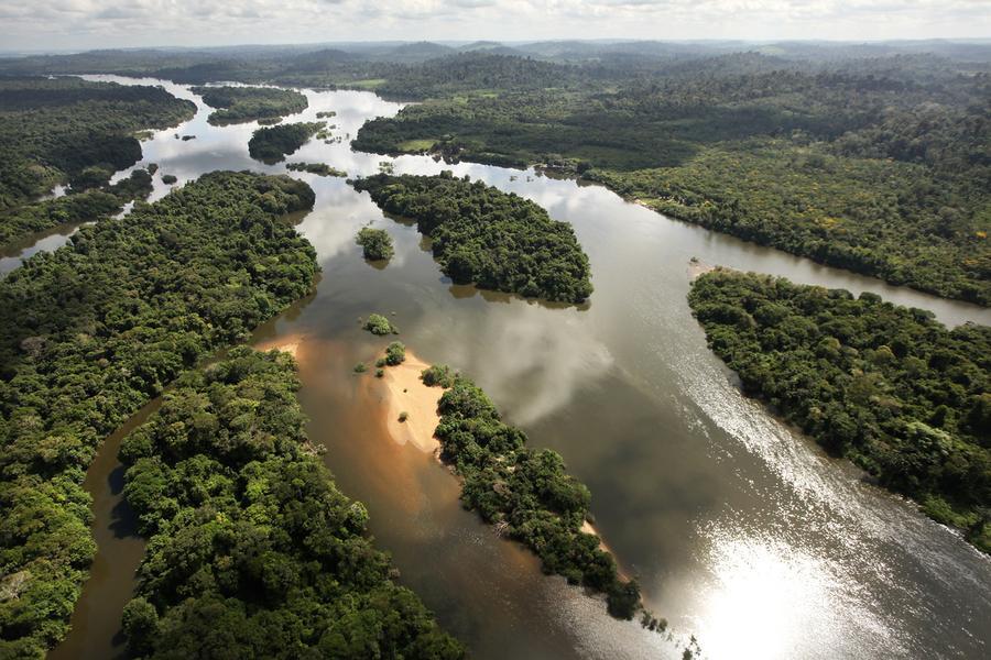 Xingu River The Xingu River flows near the