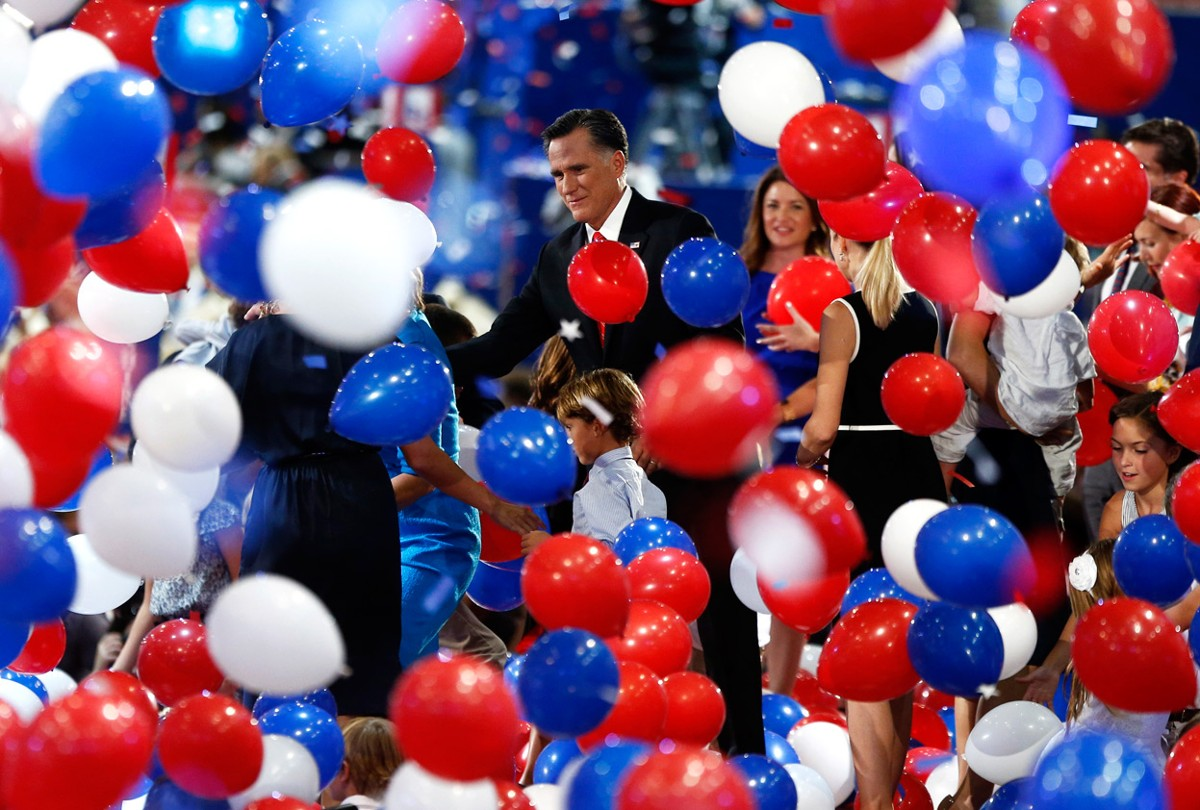 Image result for convention balloon drop