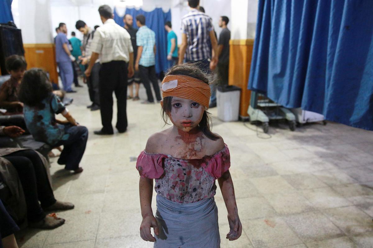 Year in Photos 2015 - Syria's Children in Syria War August 22, 2015