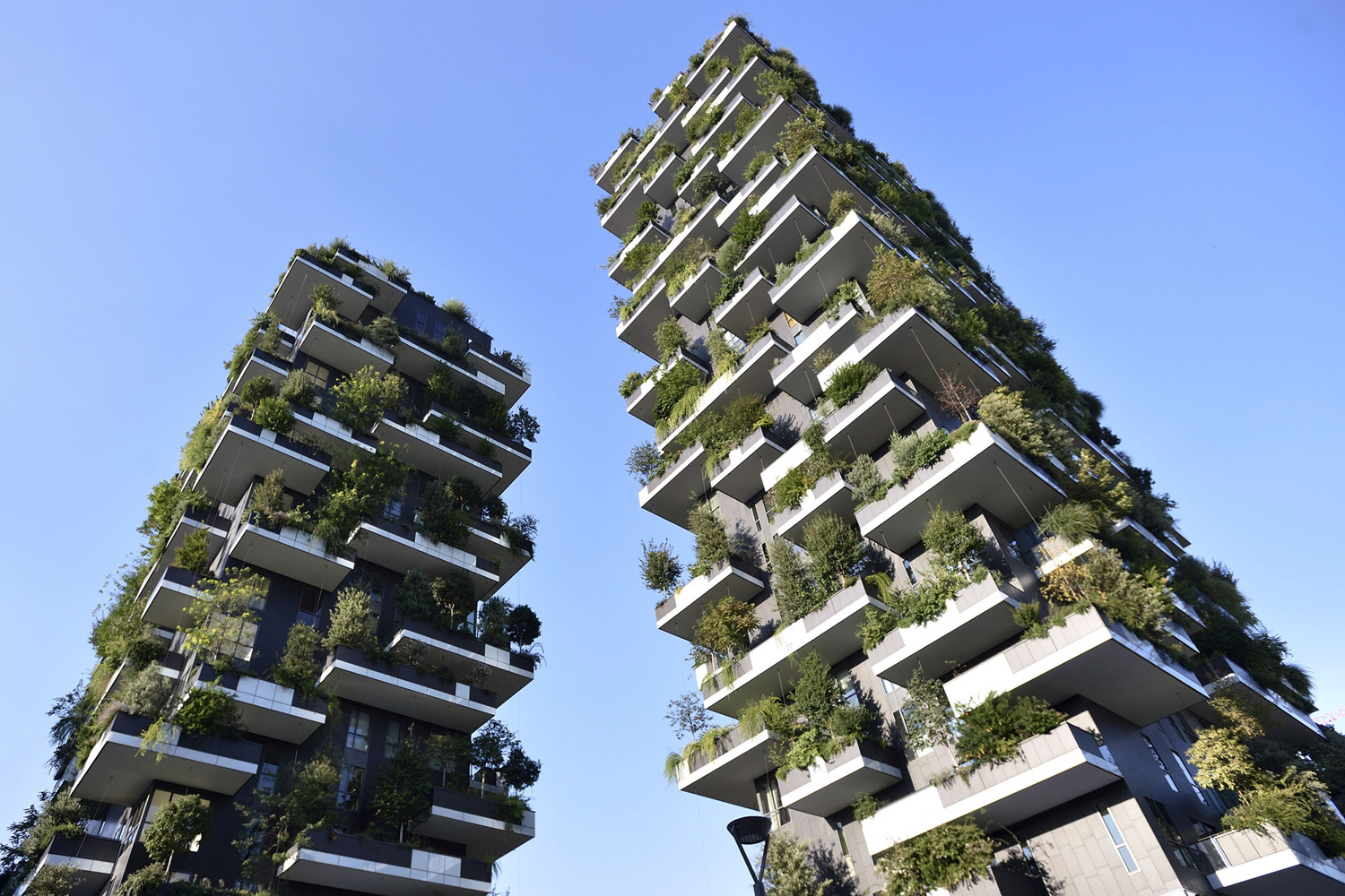 """The Bosco Verticale, or """"vertical forest,"""" towers in Milan, Italy; Flavio Lo Scalzo [1500 x 1000]"""