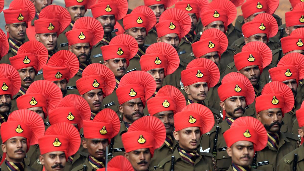 2016共和國日閱兵式上的印陸軍拉吉普特團方隊