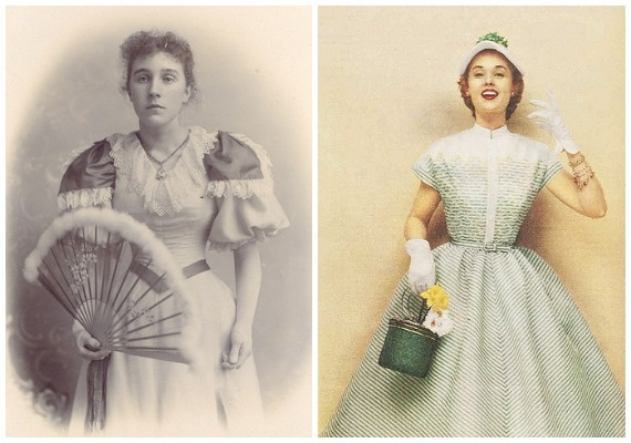 1890s And 1950s Dresses