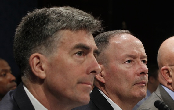 Chris Inglis and General Keith Alexander testitfy before Congress in October. (Jason Reed/Reuters) - ba1fd06c0