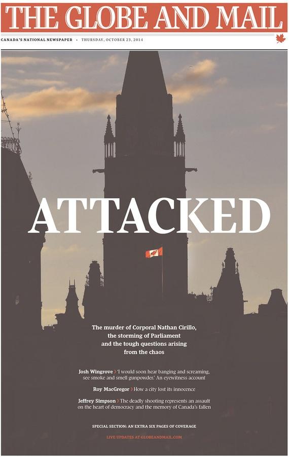 Ottawa Shooting Newspaper The Ottawa Shootings Put