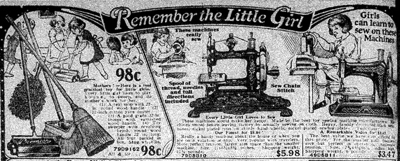 An ad from a 1925 Sears catalog (Sears)