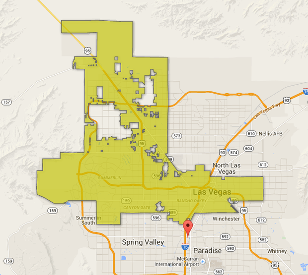 An Interactive Map Shows Leaving Las Vegas Is Easier Than