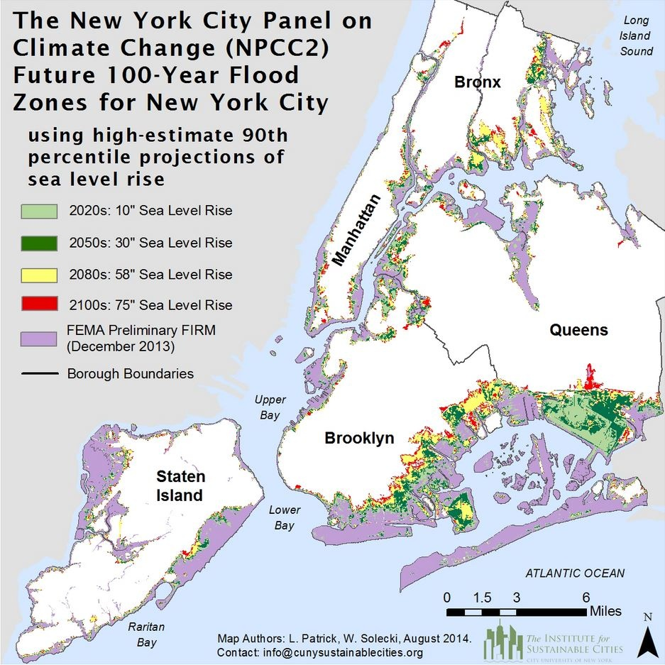 New York In 2080 9 Degrees Warmer 39 Inches Of Sea Level