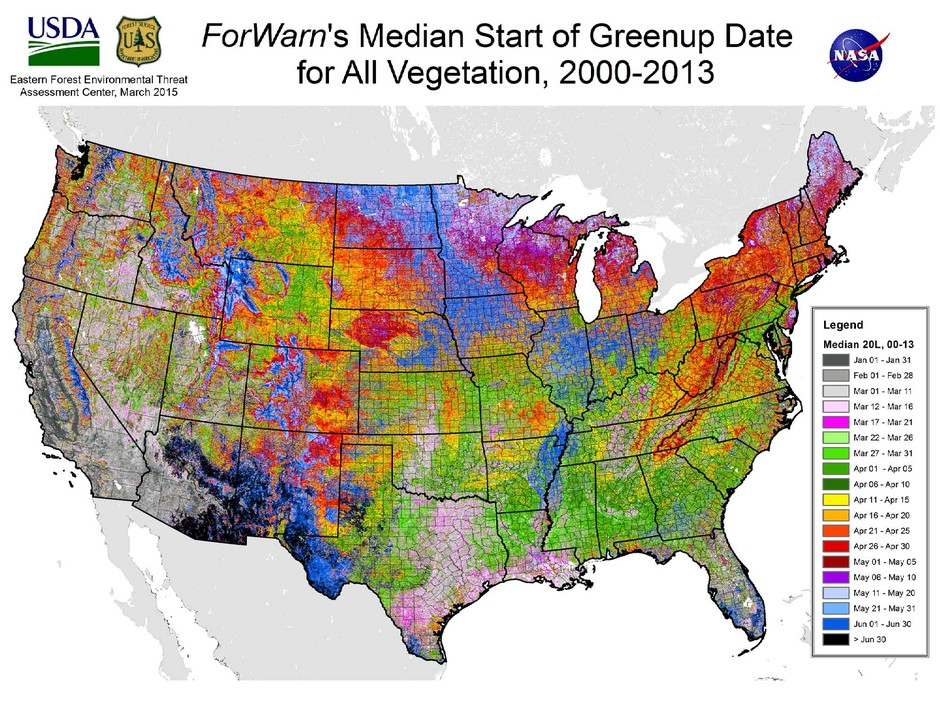 Welcome Spring With This Forest Service Map of the US Blooming