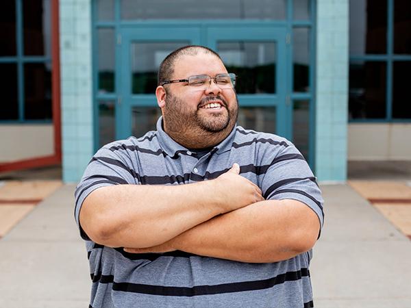 Gabe Morales, a reentry program coordinator at El Dorado Correctional Facility