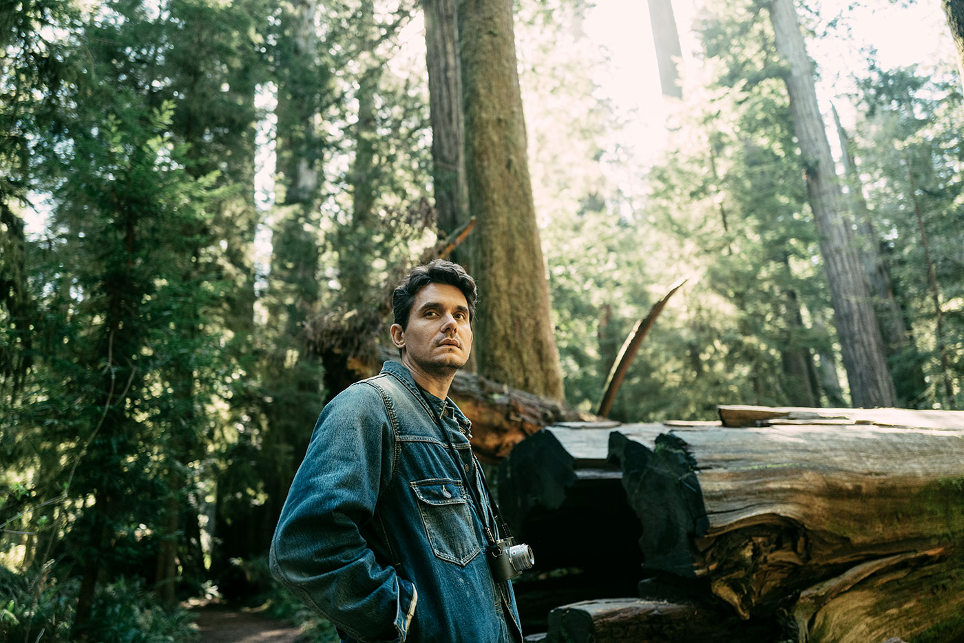 John Mayer in Jedediah Smith Redwoods State Park in Northern California