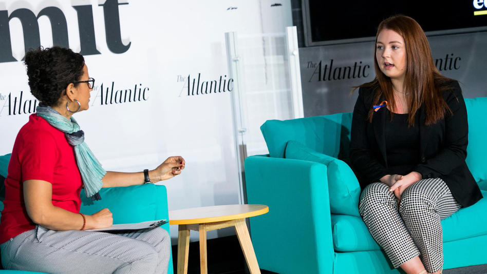 High school student and shooting survivor Keaton Conner at The Atlantic's Education Summit