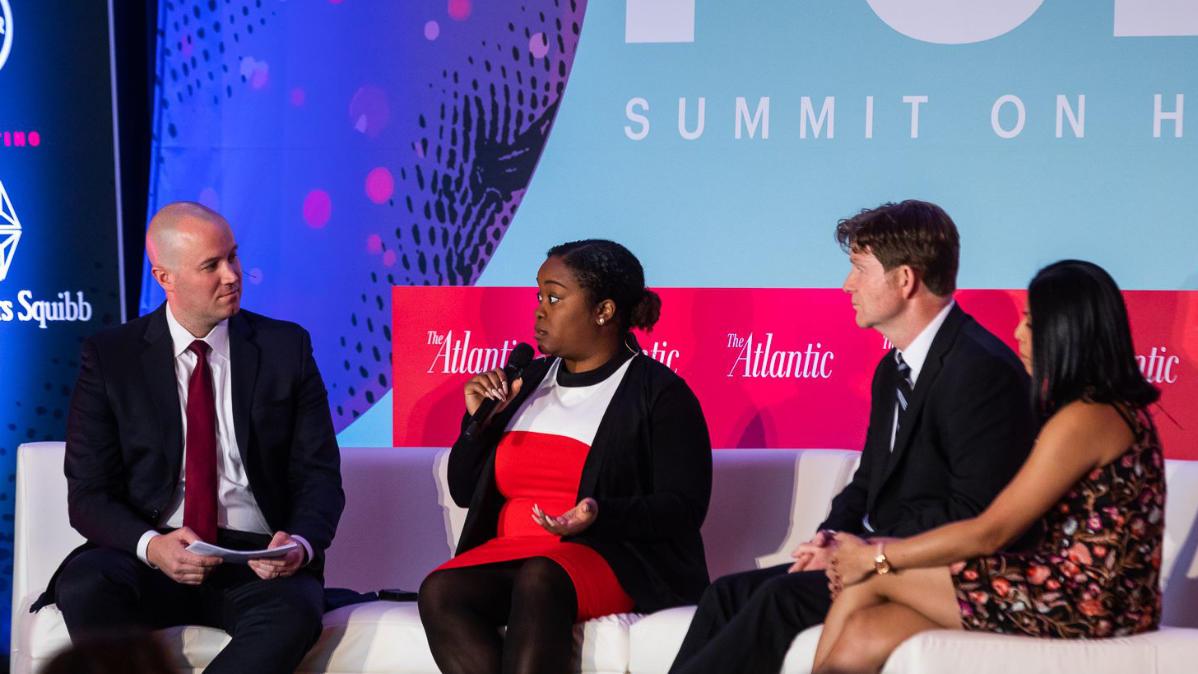 Kassandra Frederique, John Kelly, and Lipi Roy on opioid addiction at The Atlantic's PULSE Health Summit