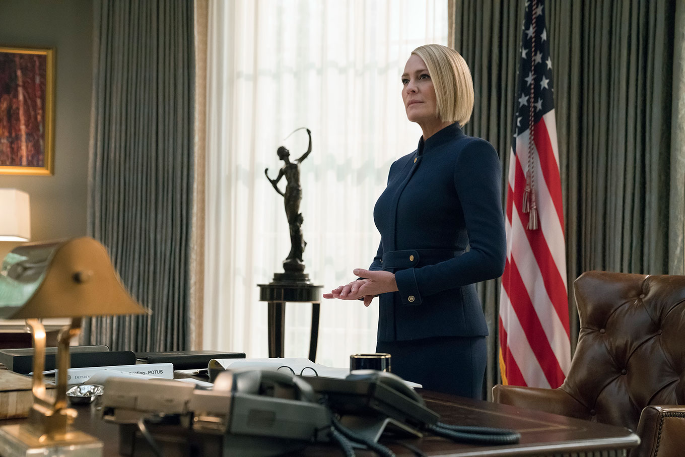 Claire standing in the oval office