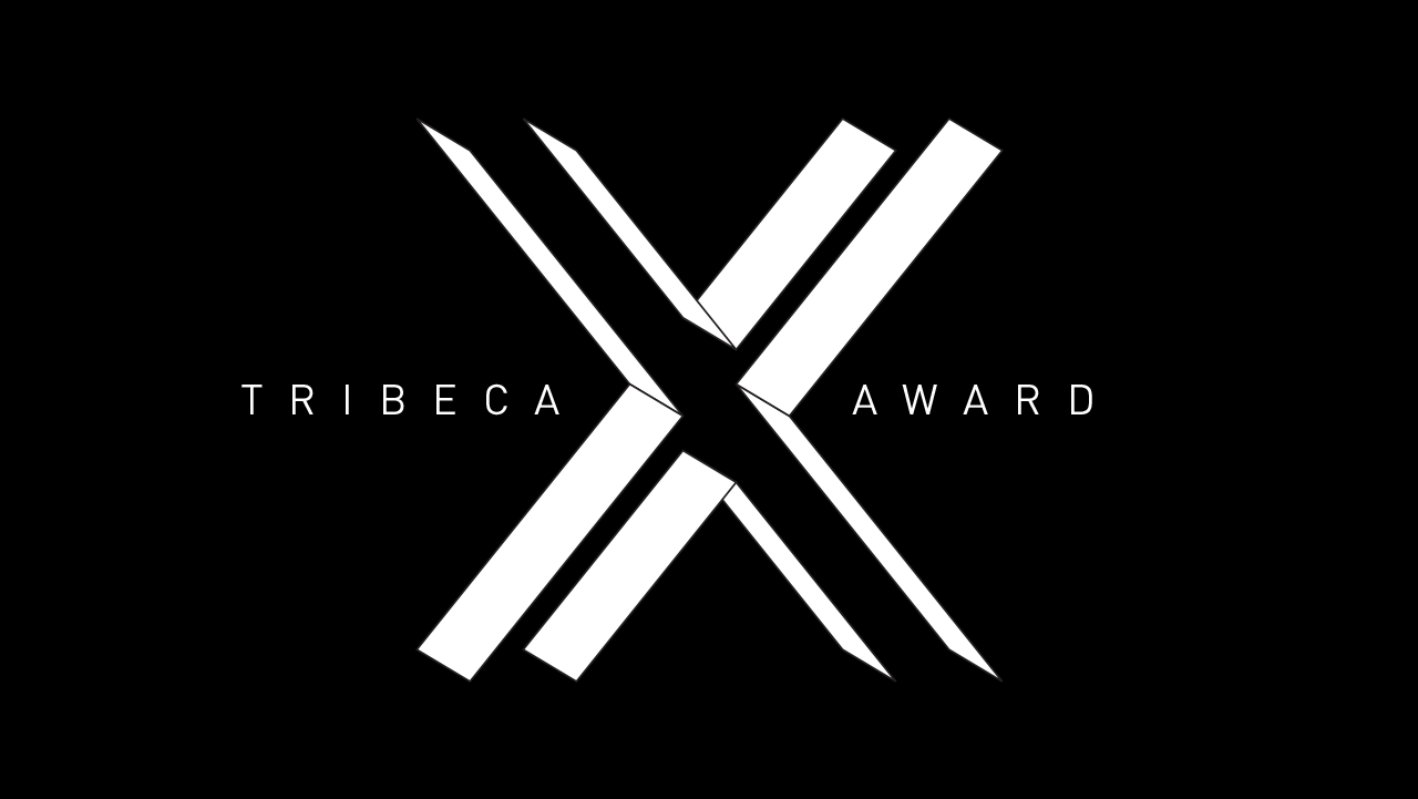 white wordmark and shapes come together to display TRIBECA X AWARD