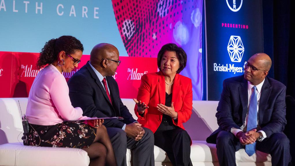 Abner Mason, Kyung Hee Choi, and Walter Ramos at The Atlantic's PULSE Health Summit