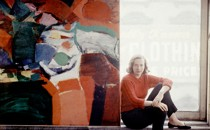 Grace Hartigan in her studio, 1957