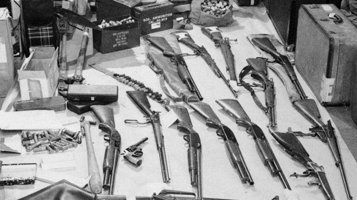 Guns And Ammunition Seized By Oakland Berkeley Police In The 1974 Arrest Of 14 Black PanthersAP