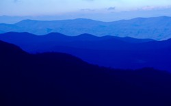 A view of the Blue Ridge mountains seen from Skyline Drive