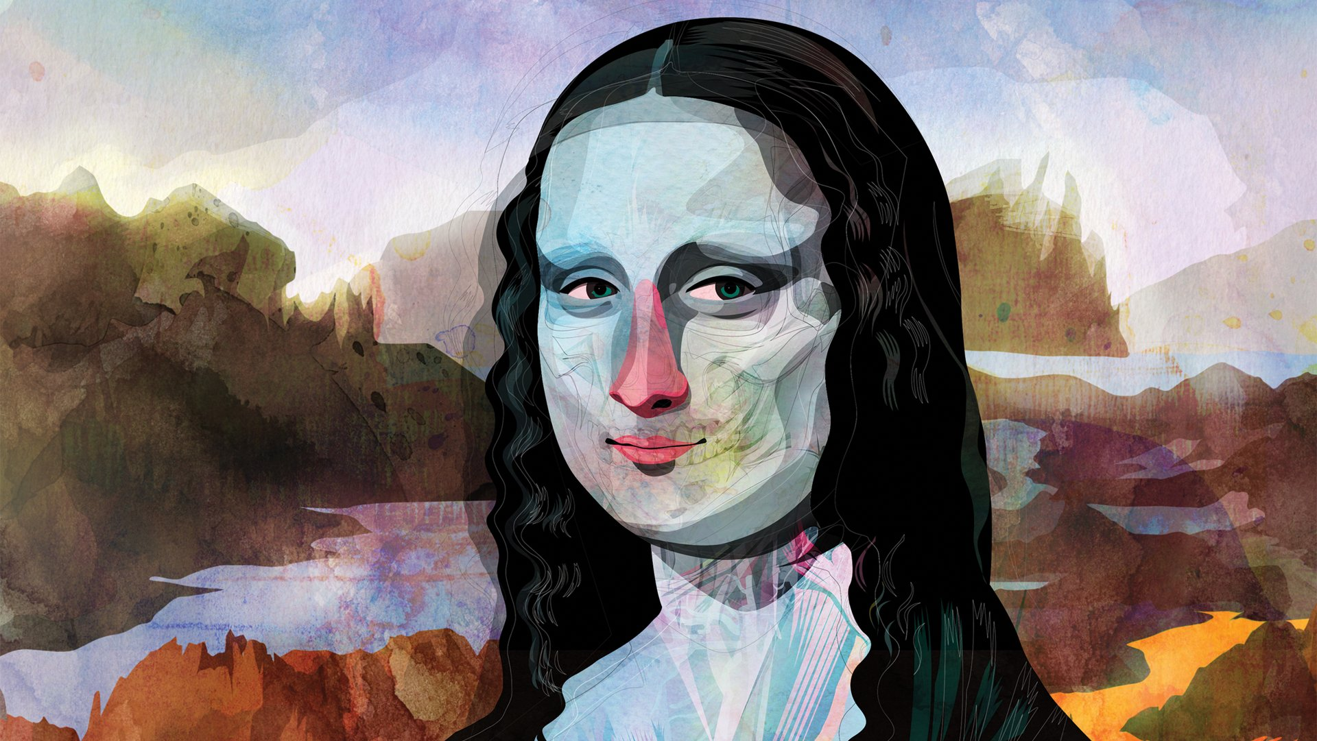 Contour Line Drawing Leonardo Da Vinci : How leonardo da vinci made mona lisa smile the atlantic
