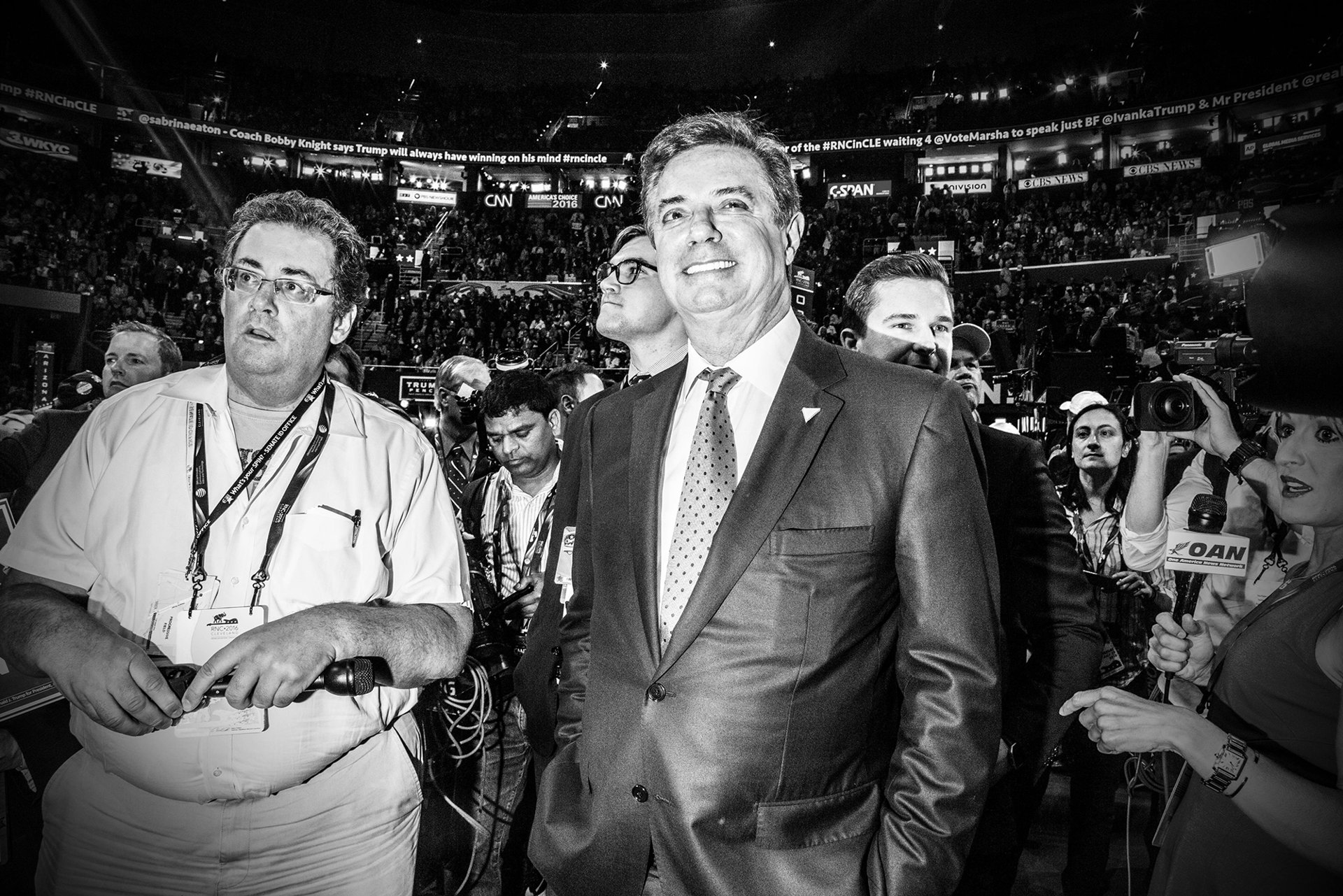 Manafort (right) at the 2016 Republican National Convention, in Cleveland  Mark Peterson / Redux