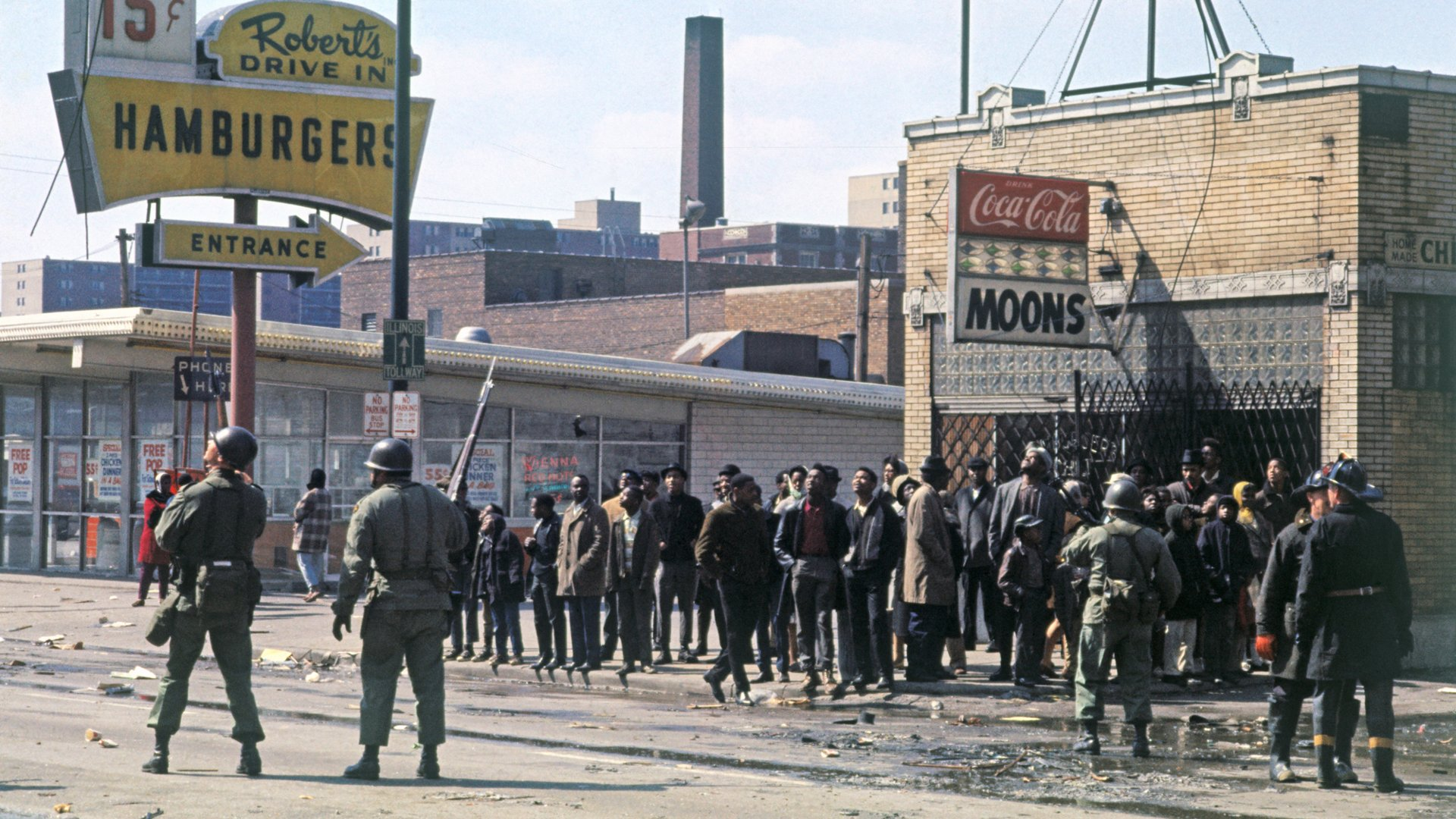 National Guardsmen Patrol The Streets Of Chicago Where Riots Broke Out After King Was Killed Bettmann Getty