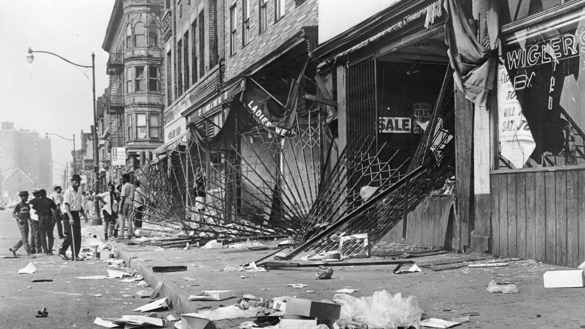 The riots in Detroit brought fires and looting. Three Lions / Getty