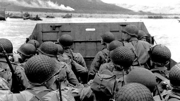 Photograph Of American Troops Roaching Omaha Beach Normandy On D Day Universal History Archive Uig Via Getty