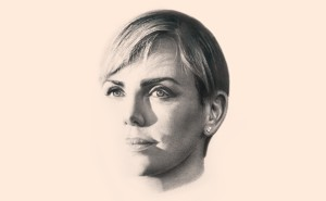 sketch of Charlize Theron