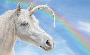 unicorn with bent horn