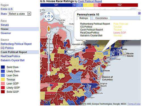 Google Midterms Map