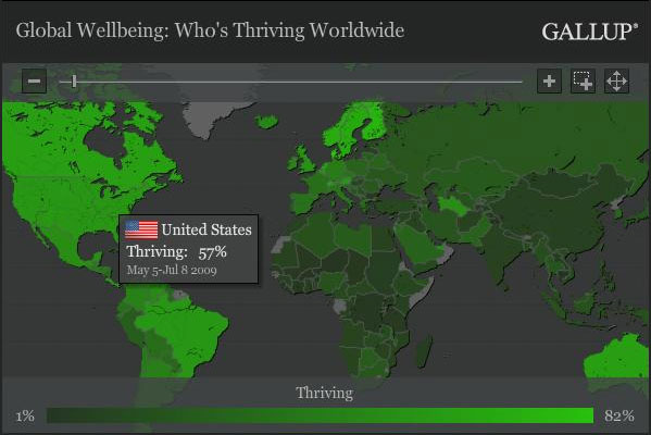 Gallup Well Being Map