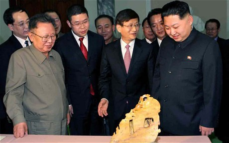 looking at a gift from the chinese minister of public security
