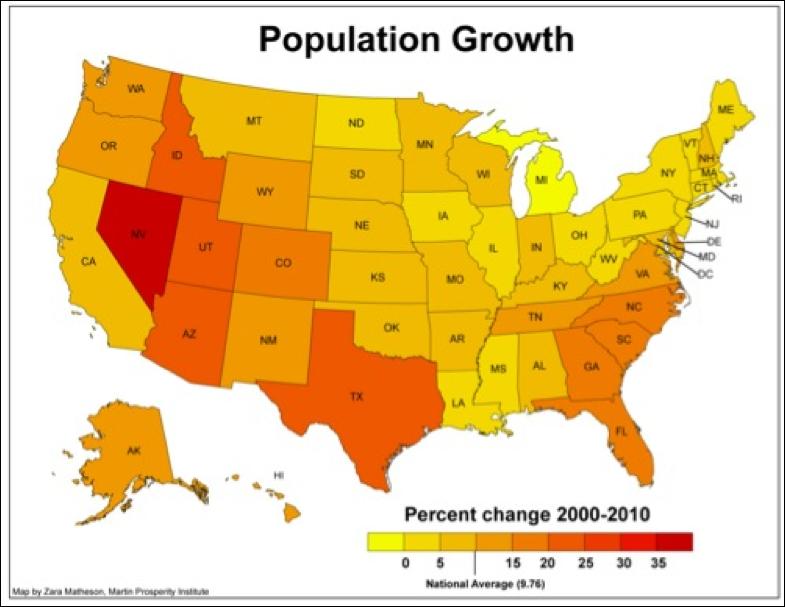 Us Map Arizona State Globalinterco - Us sunbelt map