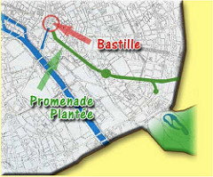 route of la Promenade Plantee (via Greenstays in France)