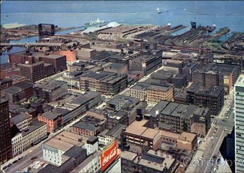 Cleveland, 1960s (from vintage postcard via Angie Schmitt & Kate Giammarise, rustwire.com)