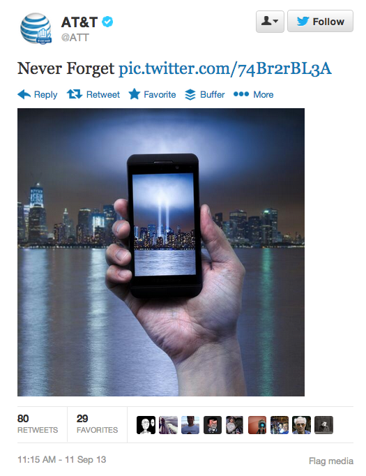 AT&T September 11 Marketing Campaign