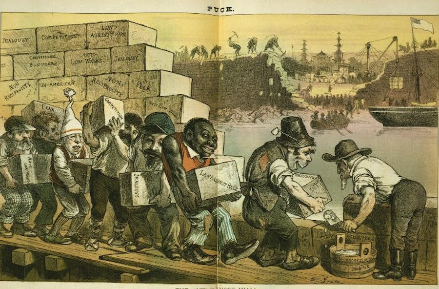 Image result for old racist images of immigrants