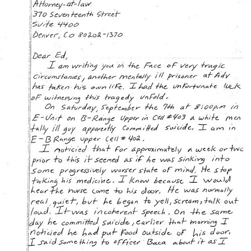 A Handwritten Letter the Prison System Doesn't Want You to