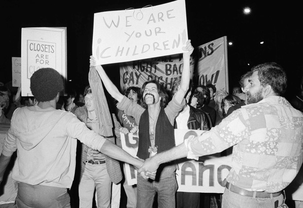 a glimpse into s gay activism the atlantic a gay rights demonstration in new york s greenwich village 8 1977 ap