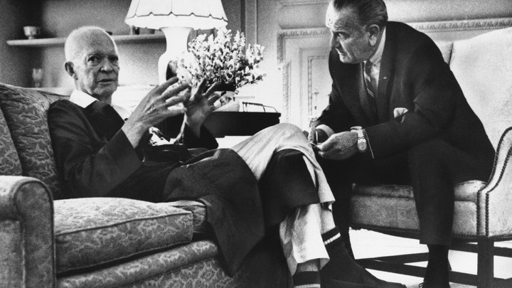 Lyndon Johnson Visits Dwight Eisenhower As He Recuperates After A 1968 Heart AttackAssociated Press