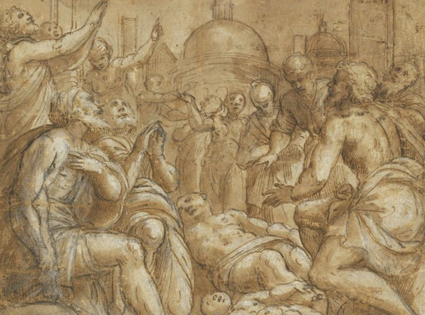 plague victims pleading for help lattanzio gambara national gallery of art