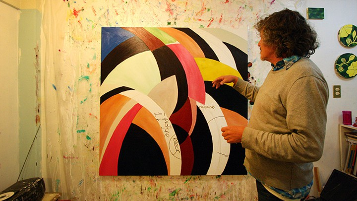 Antonio Gritón Ortiz Beside One Of His Conceptual S In Mexico City Apartment Studio Eva Hershaw