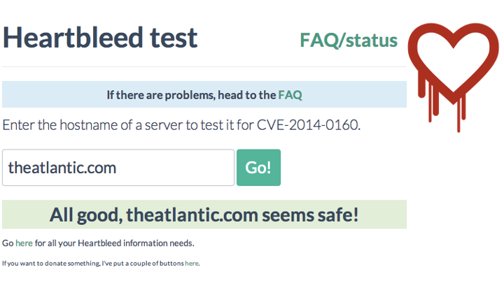 Safe Site Checker >> How To Check If A Site Is Safe From Heartbleed The Atlantic