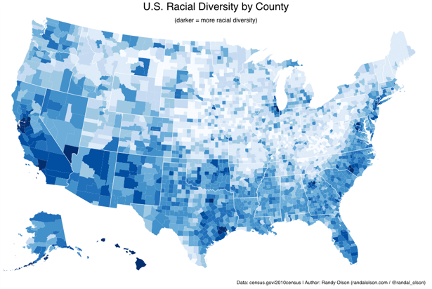 The 5 U S Counties Where Racial Diversity Is Highest And