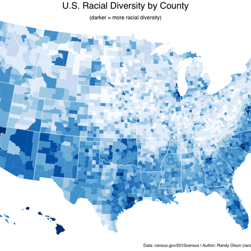 the 5 us counties where racial diversity is highestand lowest the atlantic