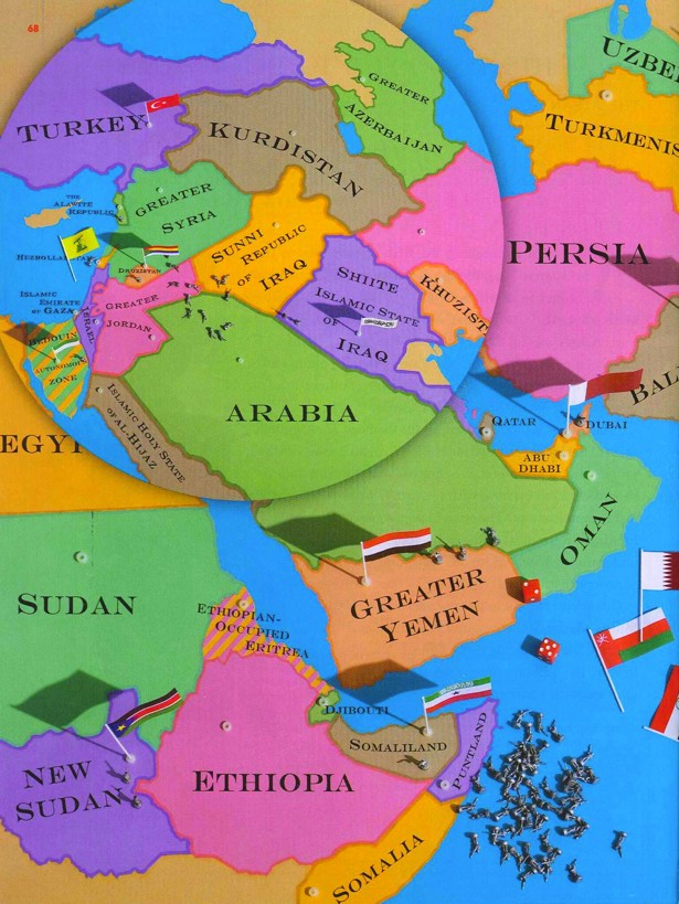 The New Map Of The Middle East The Atlantic - Us breakup map