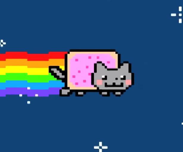 Pixel Art Nyan Cat Gif