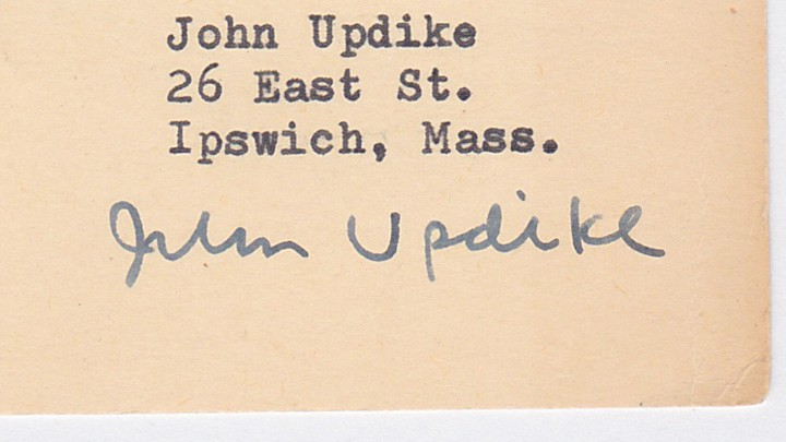 The Man Who Made Off With John Updike S Trash The Atlantic